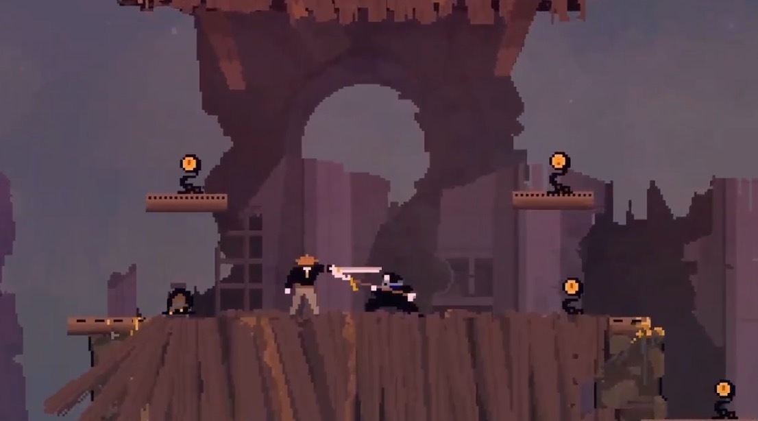 Olija is a grappling hook based action game available now for Switch and PC screenshot