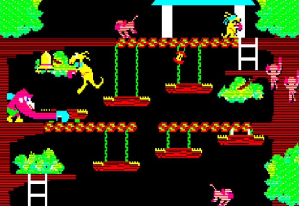 1982 platformer Kangaroo is this week's Arcade Archives release screenshot