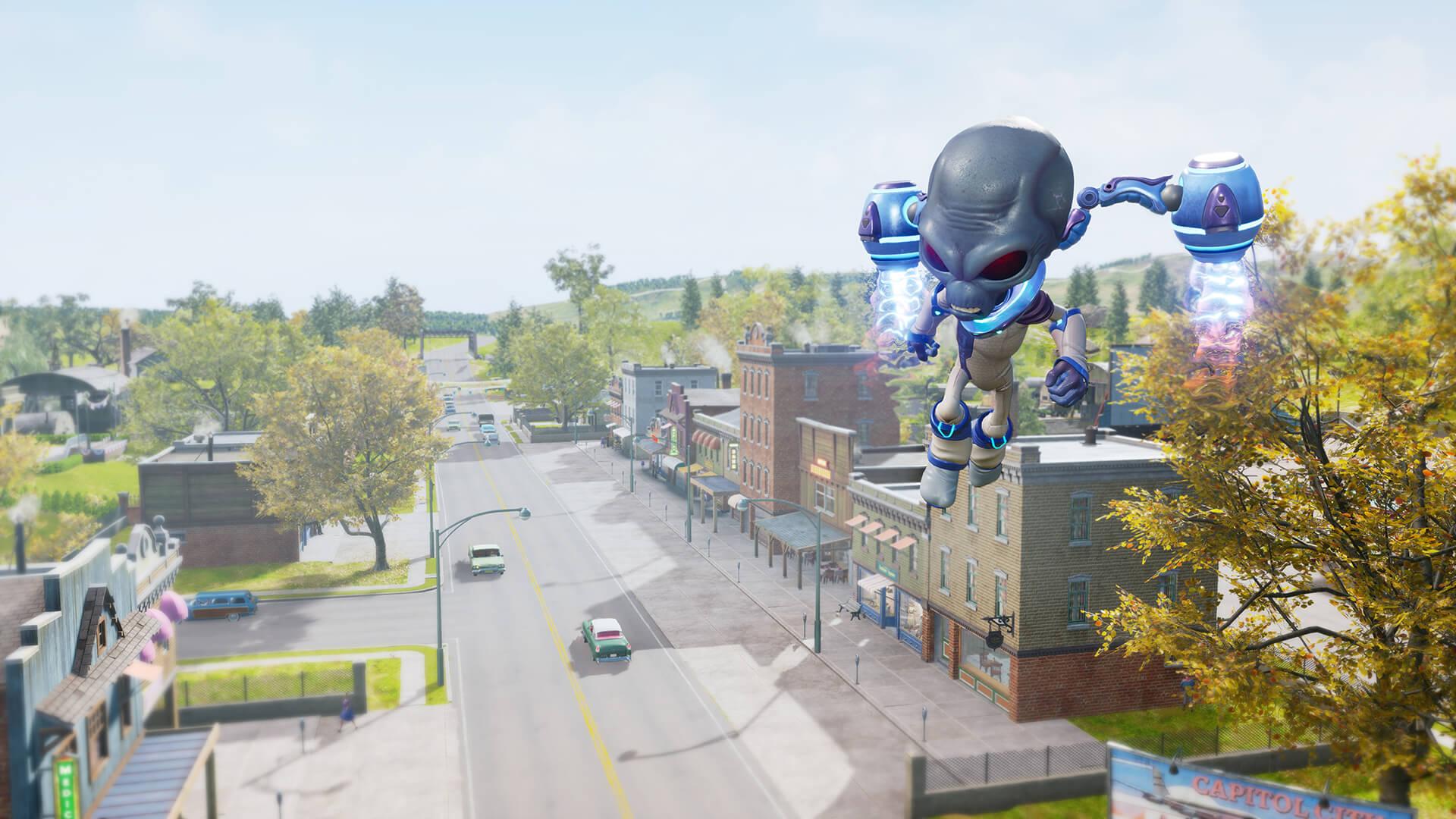 Review: Destroy All Humans! screenshot