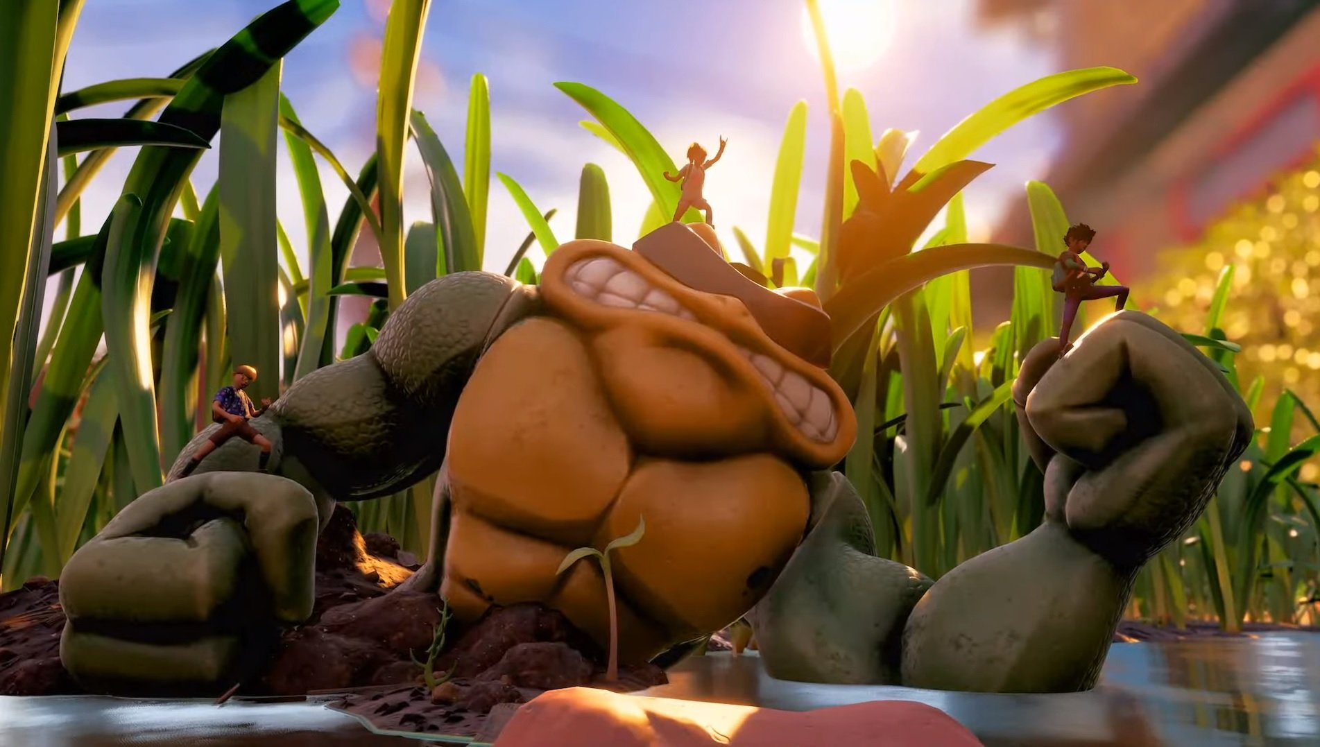 Look at this big-ass Battletoad in Grounded! screenshot