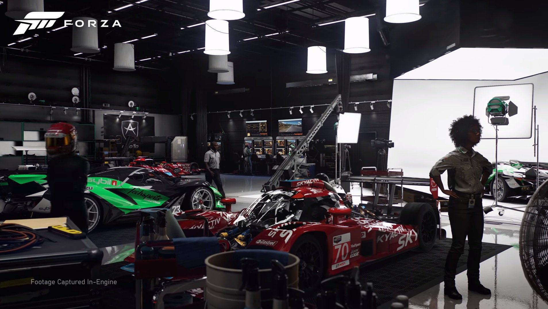 Forza Motorsport is a 'reimagining' which is a weird term for a sim racer screenshot