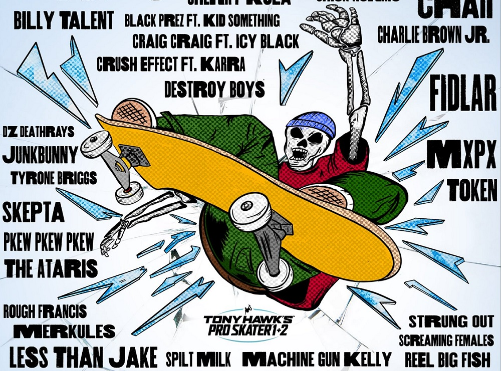 Tony Hawk's Pro Skater 1 & 2 soundtrack adds 37 bangers screenshot