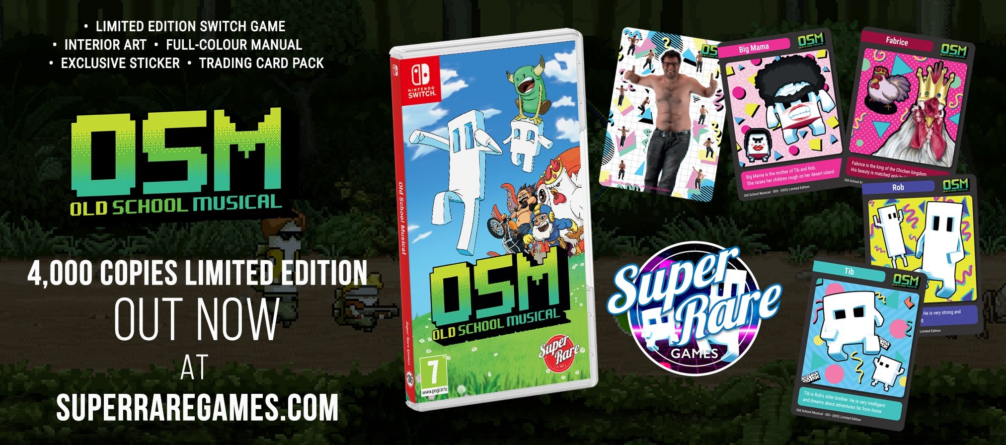 Old School Musical contest Super Rare Games Switch win