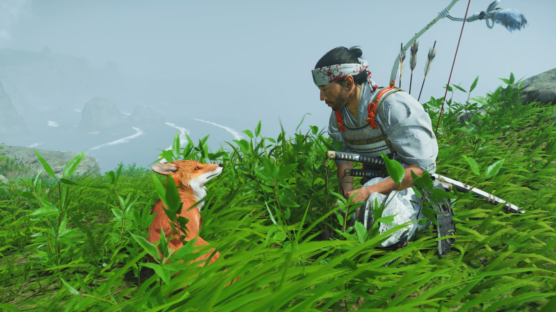 We aren't petting enough foxes in Ghost of Tsushima screenshot