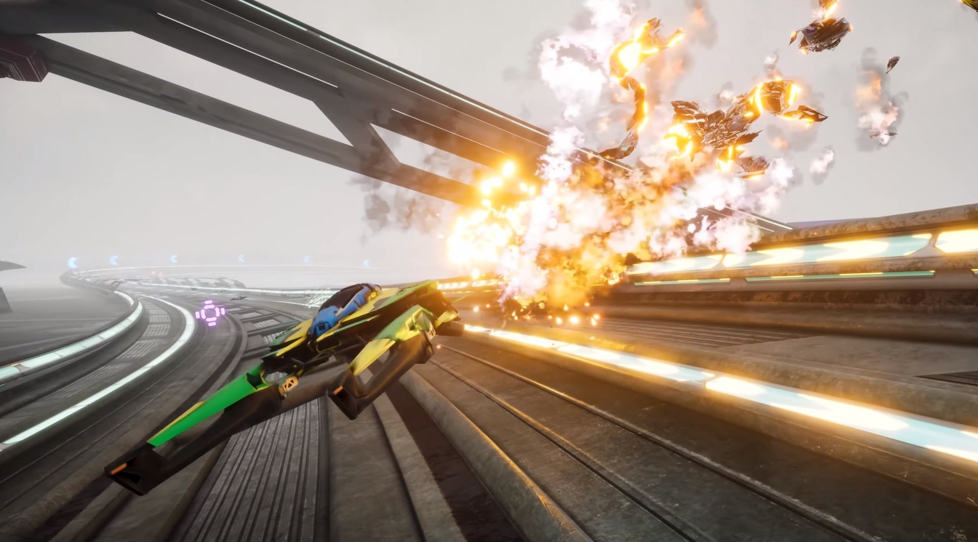 Another WipEout-looking futuristic racer is coming next month screenshot