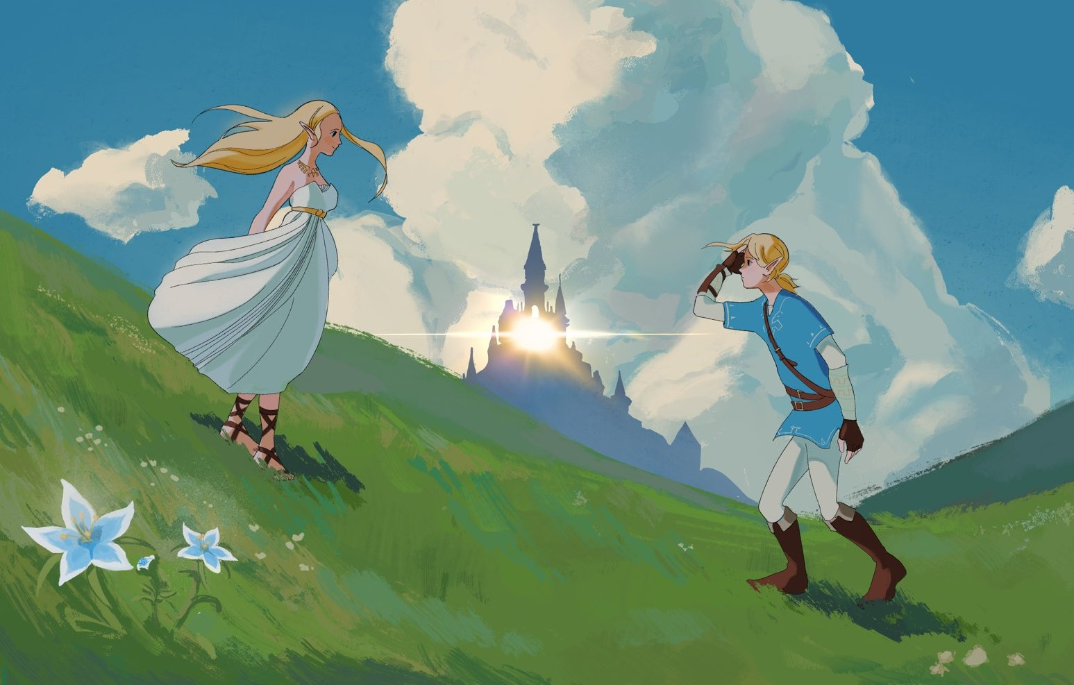 Ghibli meets Zelda: Breath of the Wild once again in this stunning poster screenshot