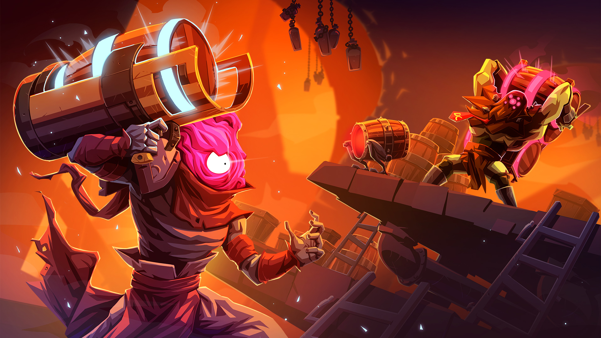 Dead Cells has a new level with mimics in the Barrels o' Fun update screenshot