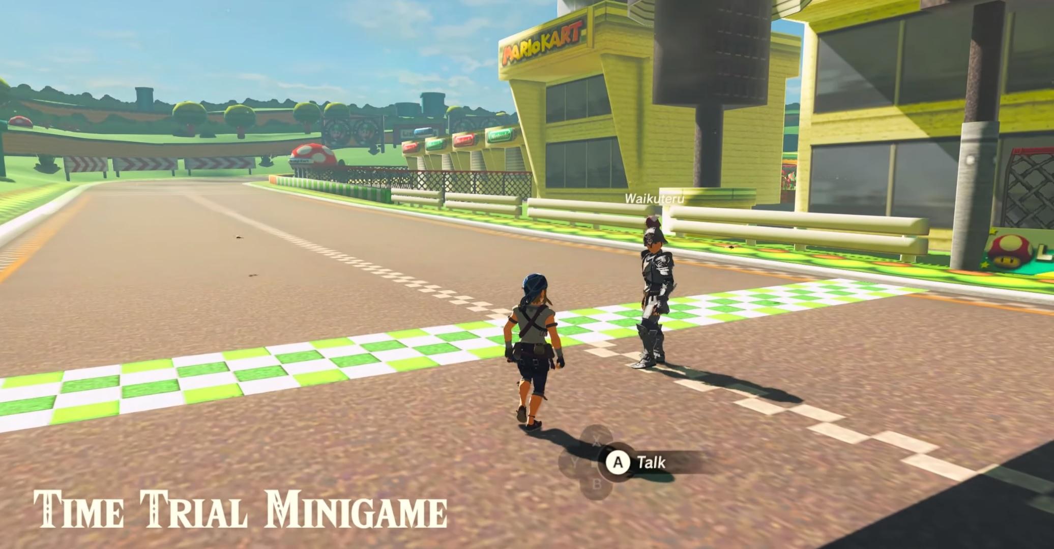 Someone recreated Mario Kart's Luigi Circuit in Zelda: Breath of the Wild screenshot