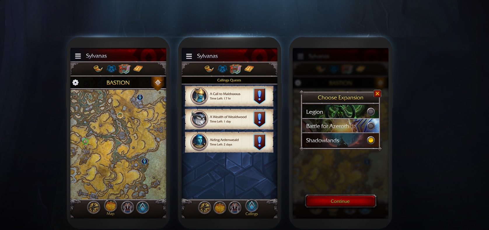 World of Warcraft is getting an overhauled app for the upcoming Shadowlands expansion screenshot