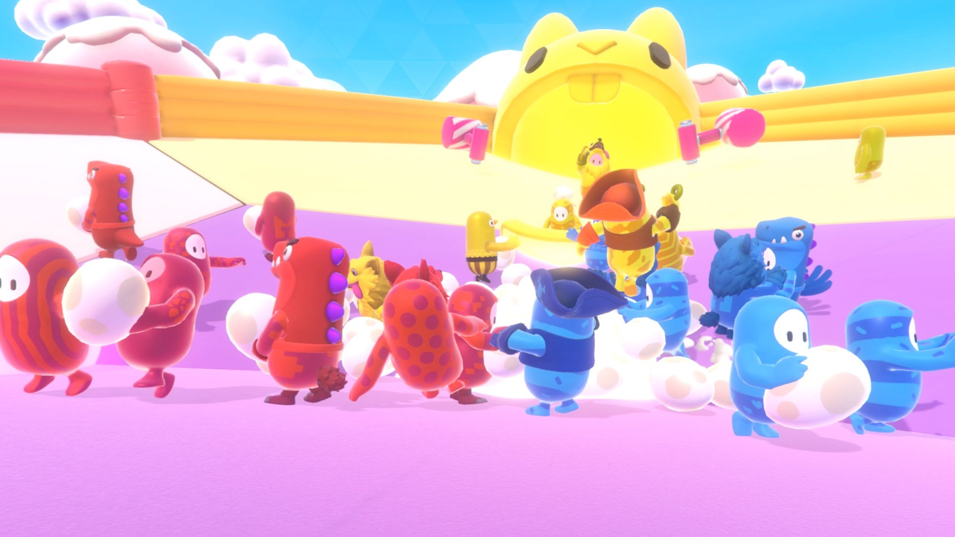 Fall Guys now has inverted camera controls and evenly split team games screenshot