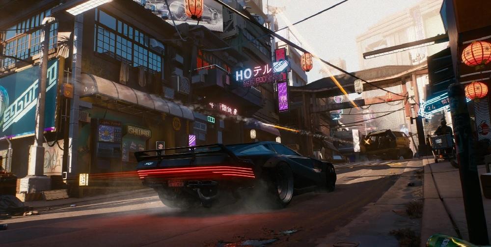Cyberpunk 2077 tech video shows off GeForce RTX 30 effects screenshot