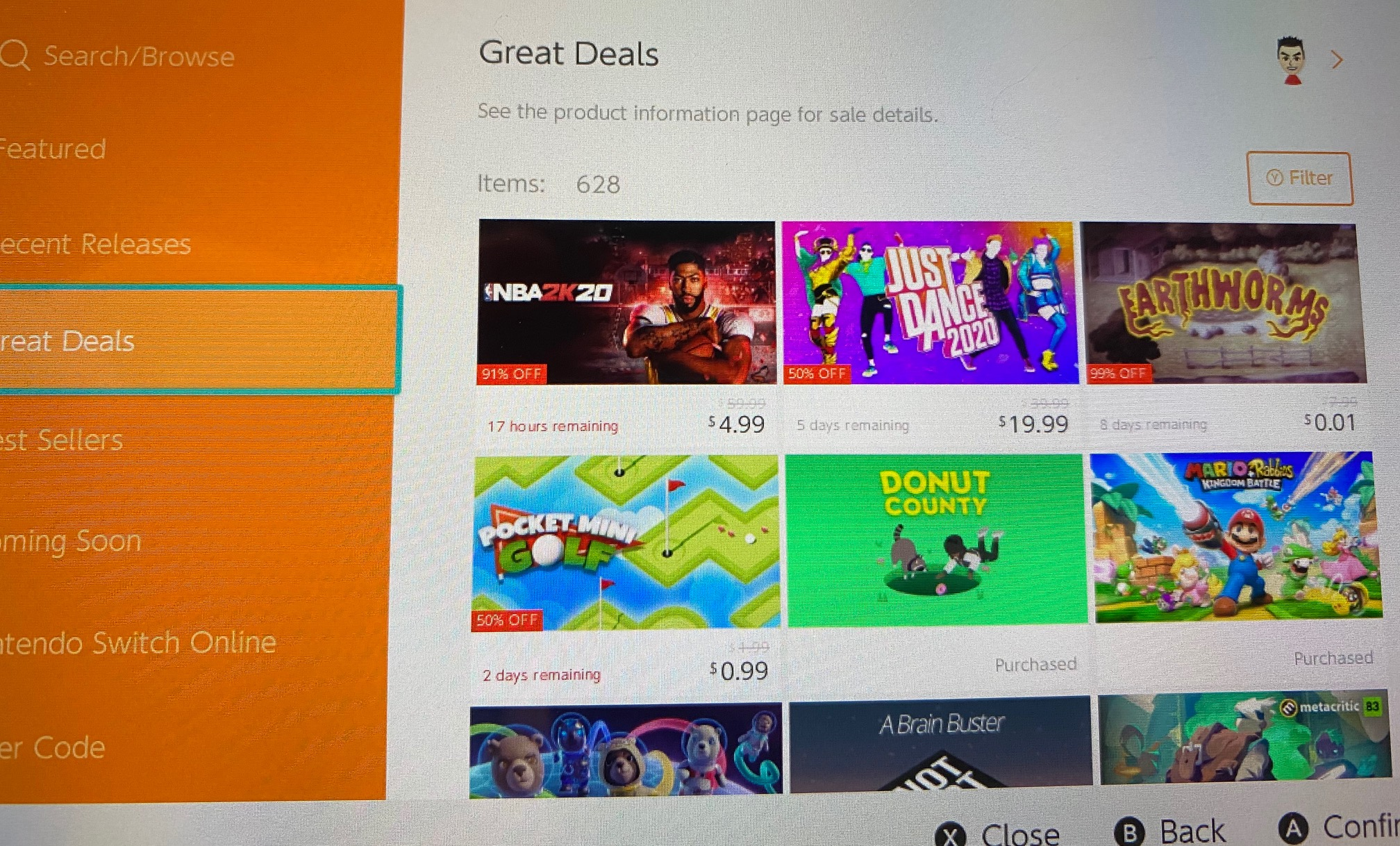 Behold! The Switch eShop has actual timers for sales now screenshot