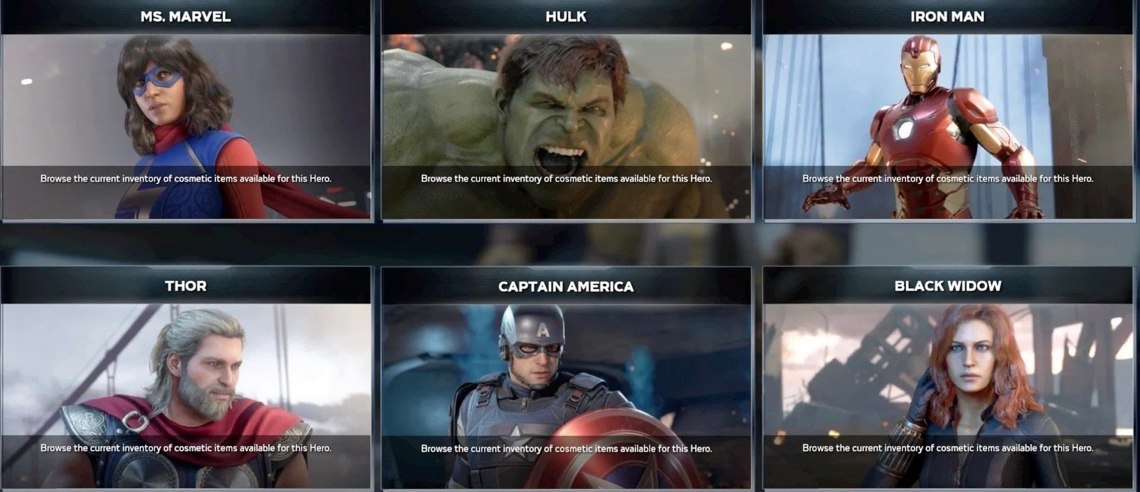 Which Marvel's Avengers character is your main so far? screenshot
