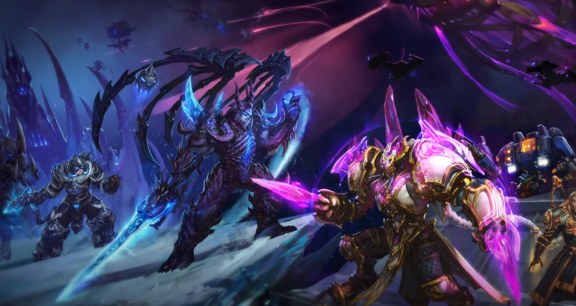 The latest Heroes of the Storm event combines Starcraft and Warcraft into one metal mix screenshot