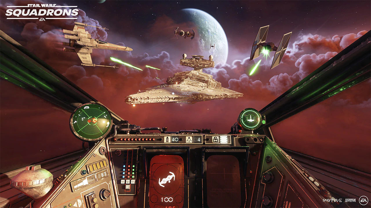 You can use a flight stick for Star Wars: Squadrons on PS4 and Xbox One screenshot