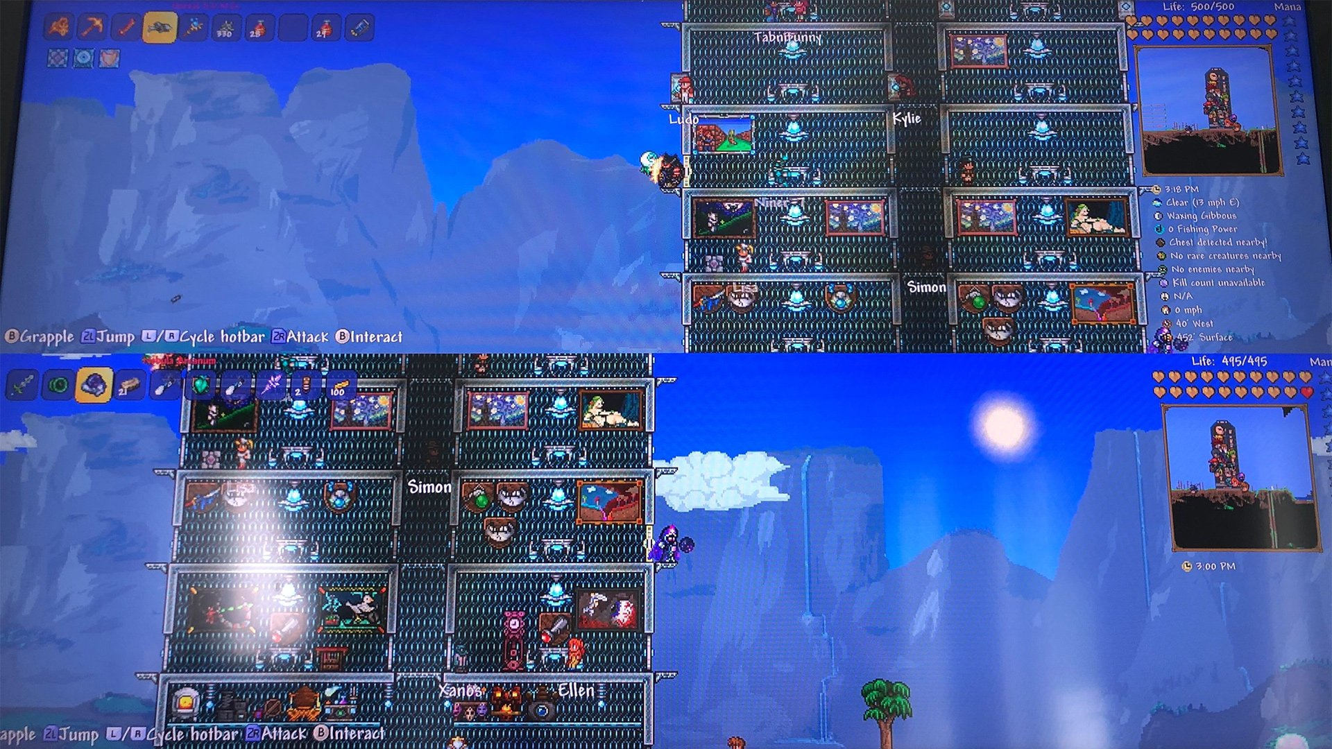 Terraria got a Switch update for two-player split-screen co-op screenshot