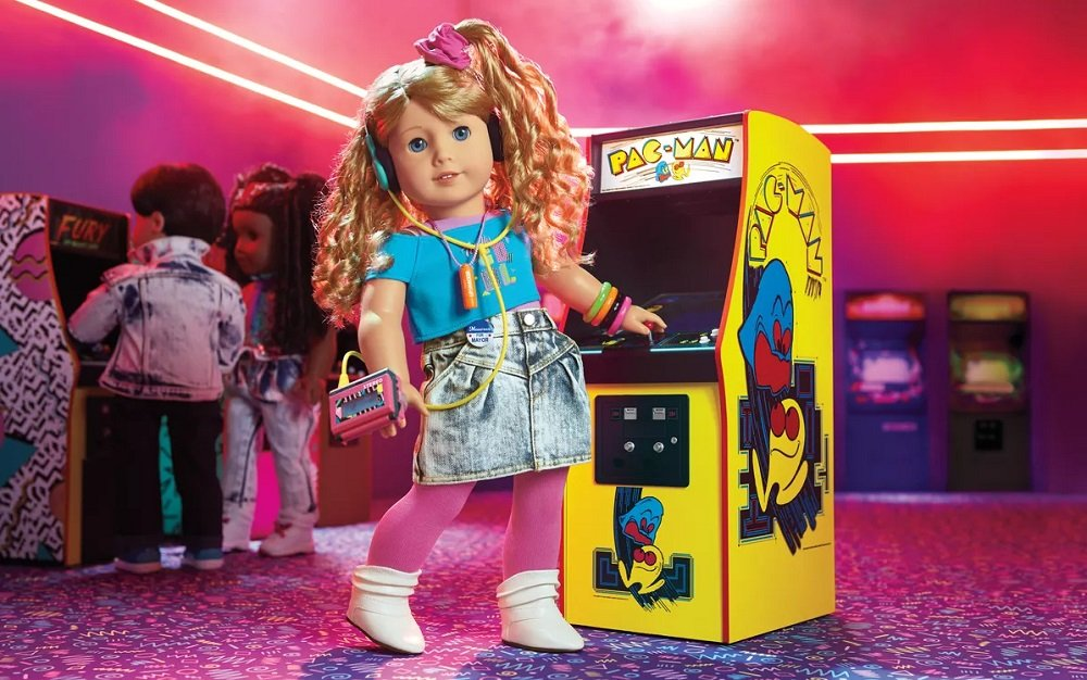 American Girl's Courtney doll is a rocking '80s Pac-Man pro screenshot