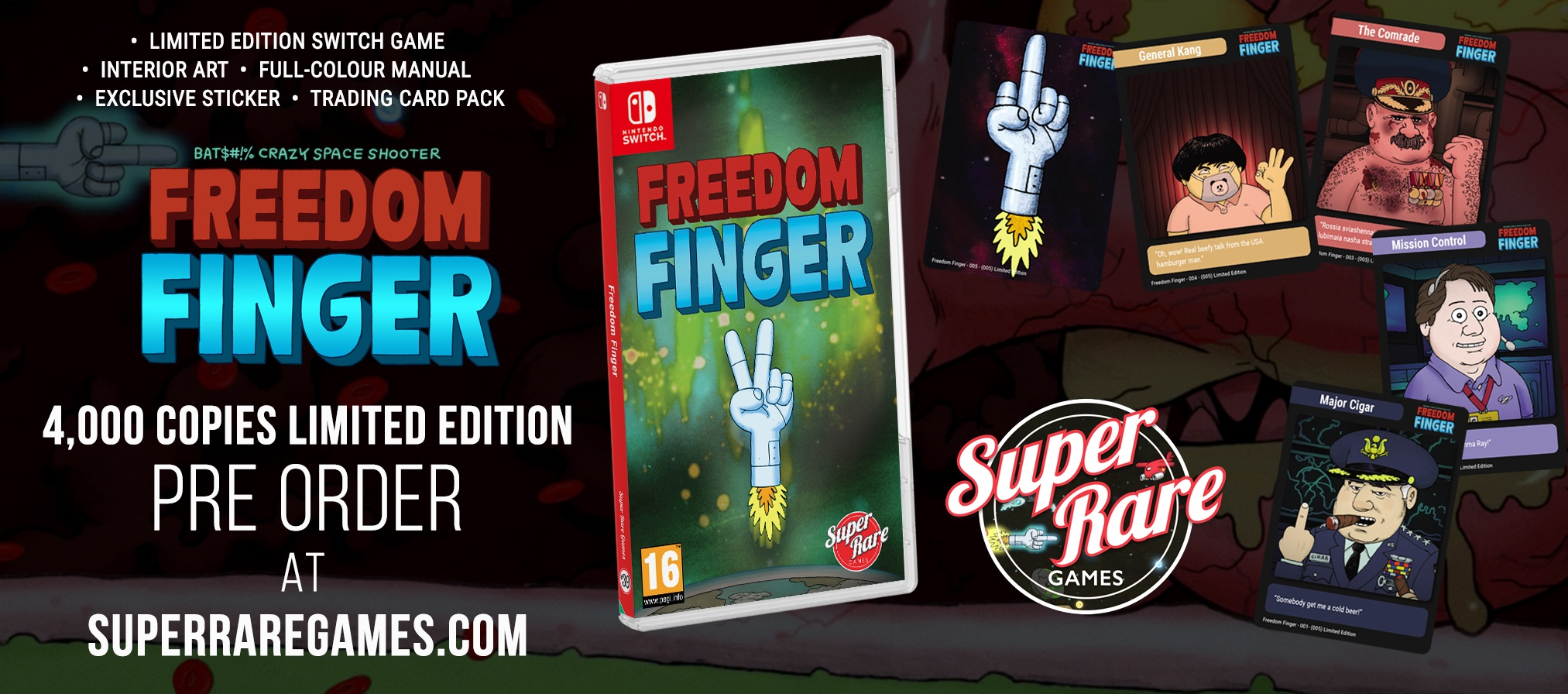 Contest Freedom Finger Super Rare Games win Switch