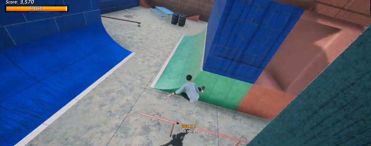 Someone remade Call of Duty's 'Shipment' map in Tony Hawk's Pro Skater 1+2 screenshot
