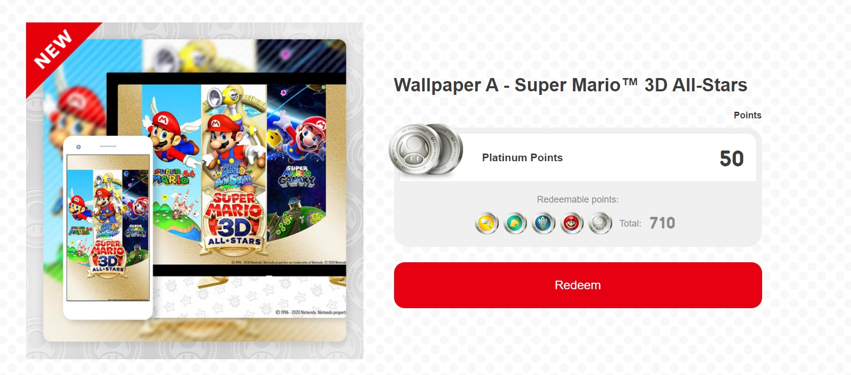 My Nintendo celebrates Super Mario 3D All-Stars with new wallpaper screenshot