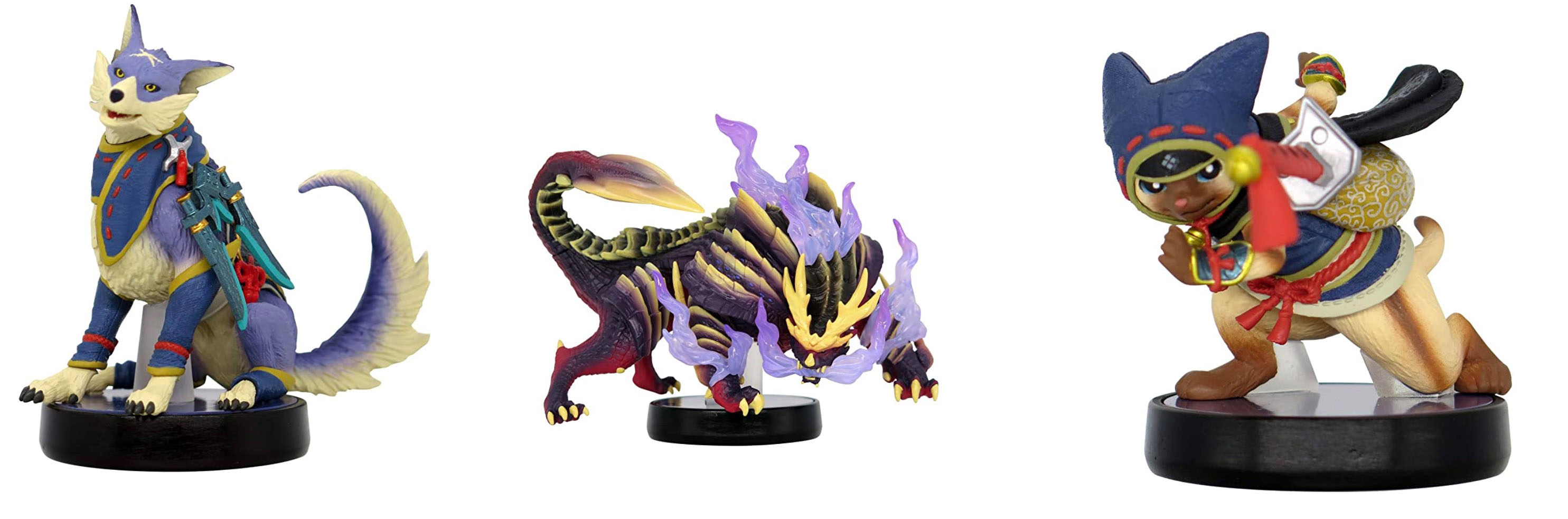 Here's what the Monster Hunter Rise amiibo actually look like