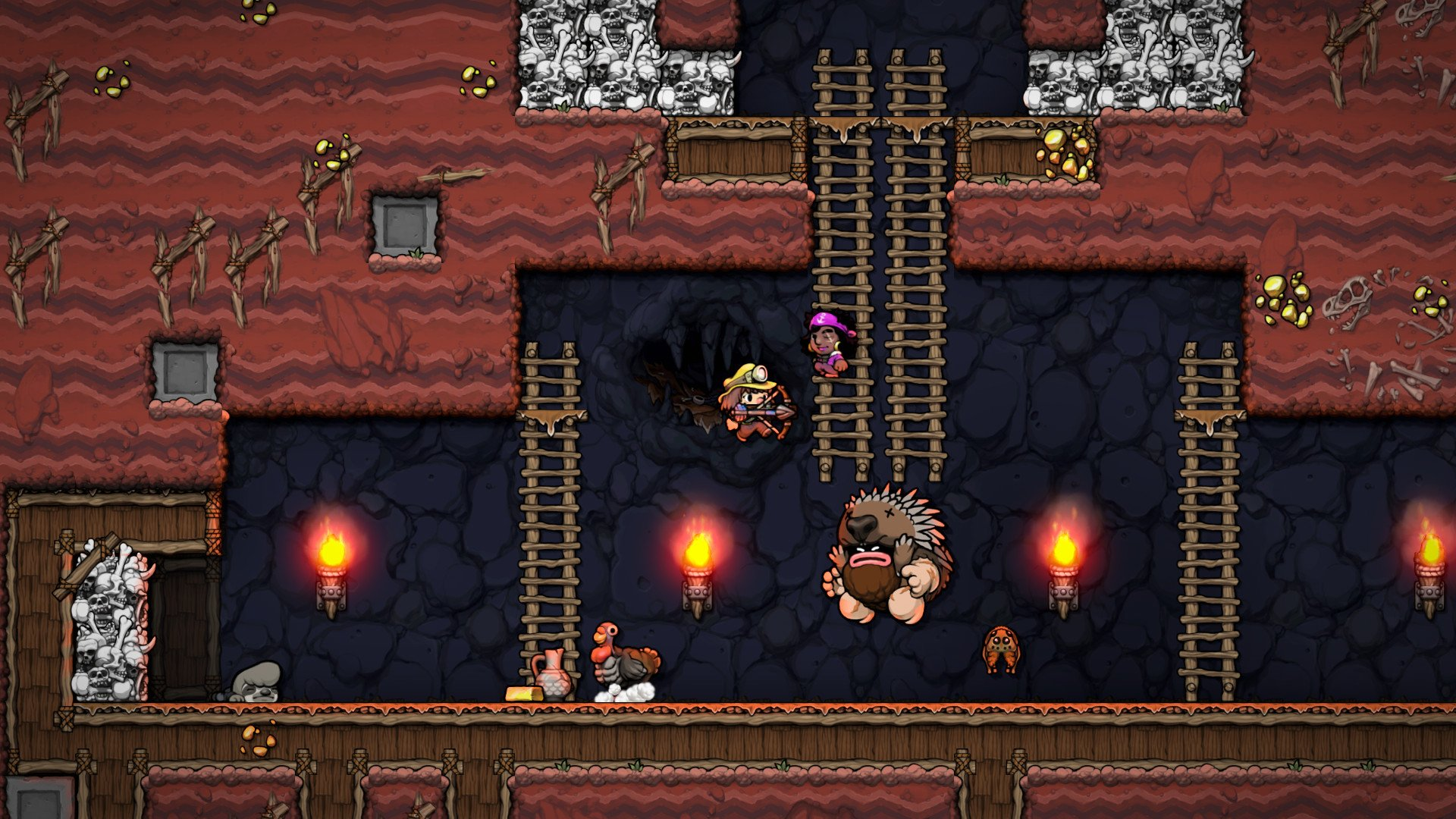 Spelunky 2 dodges a delay on PC by temporarily leaving online co-op behind screenshot
