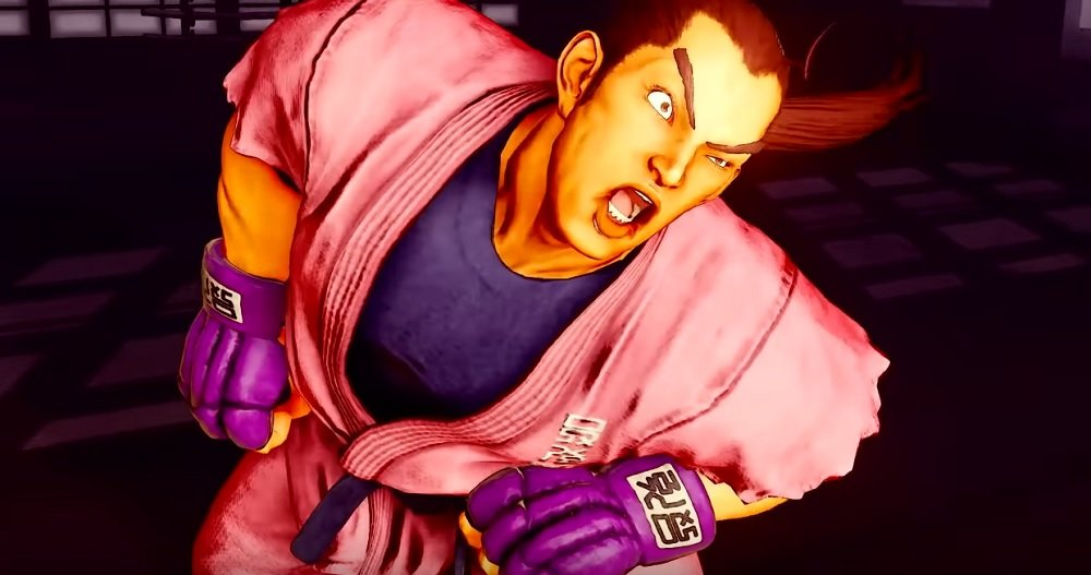 Here's our first look at Street Fighter V's Dan Hibiki in his taunting element screenshot