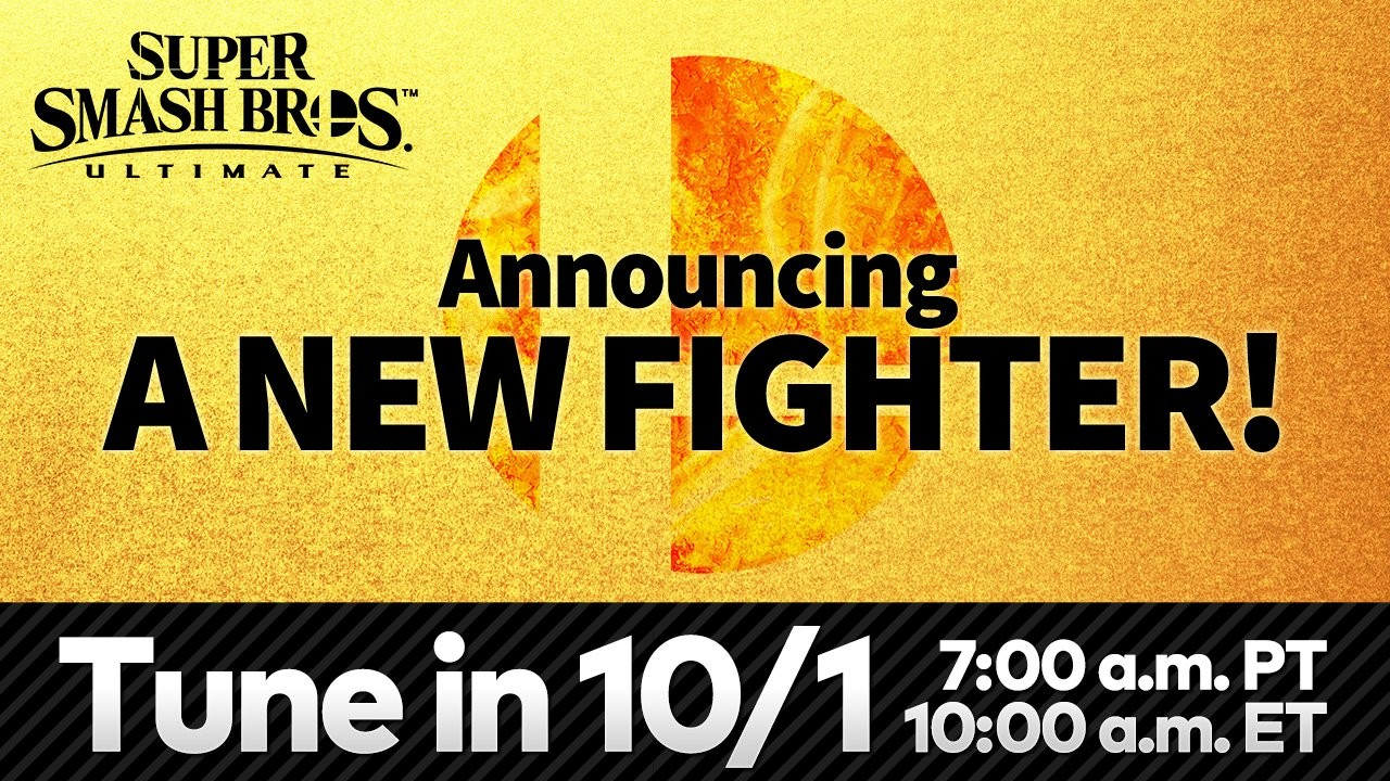 (Update) Nintendo is revealing the next Smash Ultimate fighter soon, watch it here screenshot