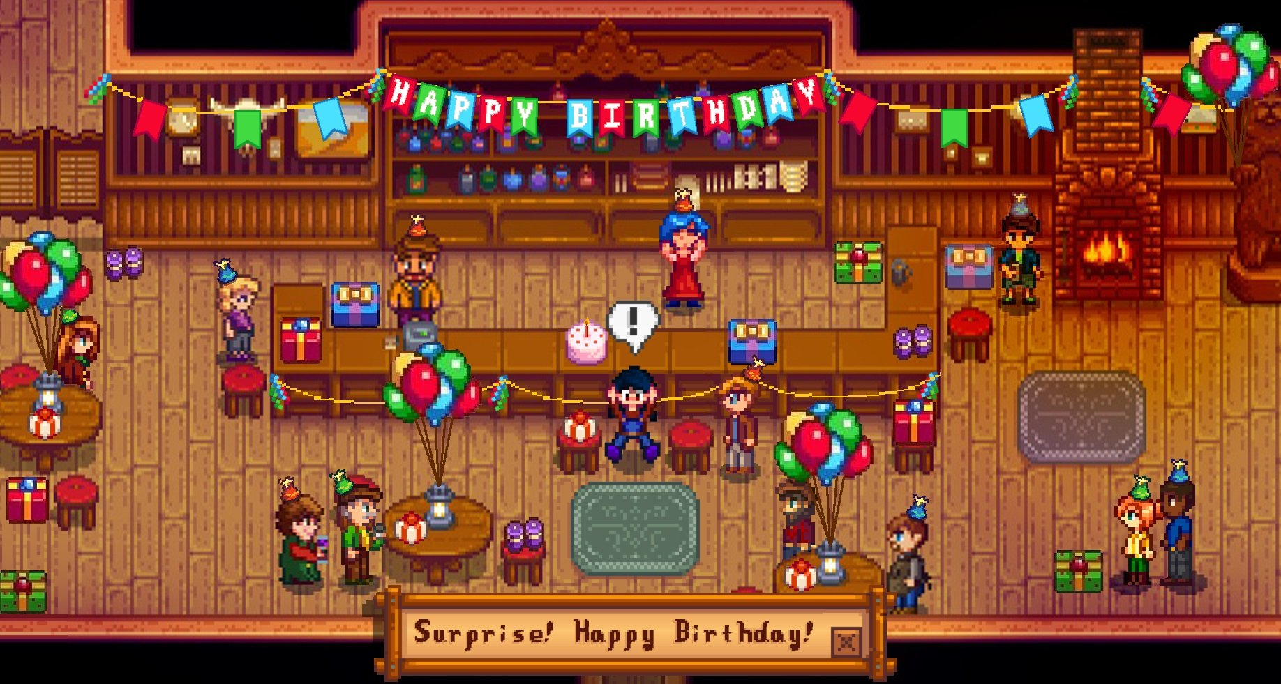 Fan imagines a world where Stardew Valley celebrates your birthday screenshot