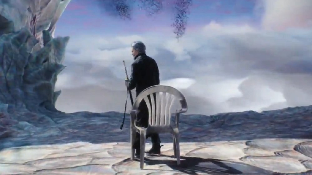 This simple Devil May Cry 5 mod does one thing: It gives Vergil a plastic chair throne screenshot
