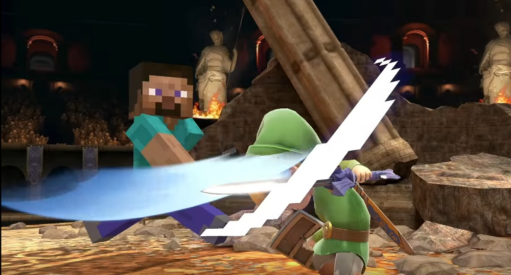 Plans for Minecraft's Steve to appear in Super Smash Bros. Ultimate go back as far as 2015 screenshot
