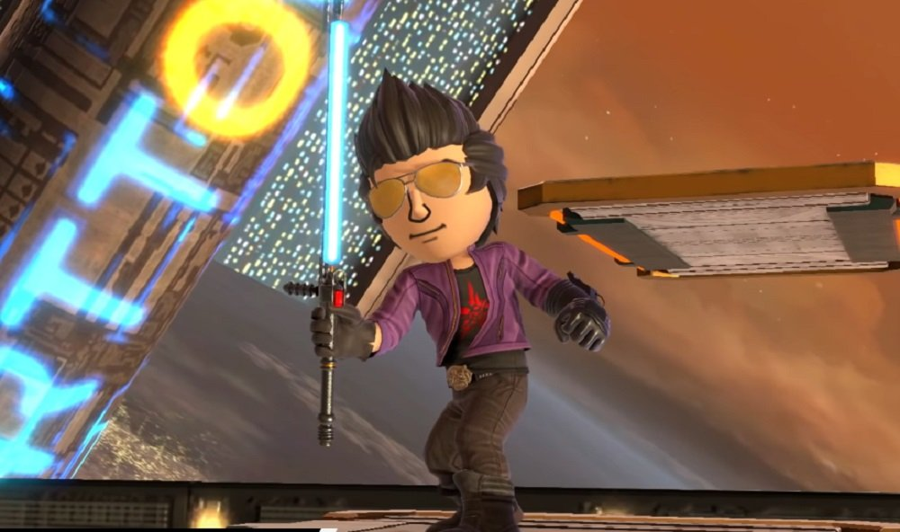 Bomberman and Travis Touchdown among the new wave of Mii Fighter costumes in Super Smash Bros. Ultimate screenshot