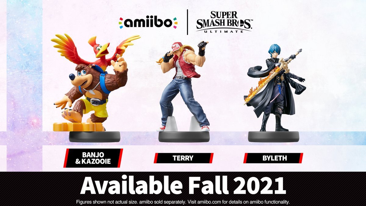 We might not be getting the new Smash amiibo trio until late 2021 screenshot