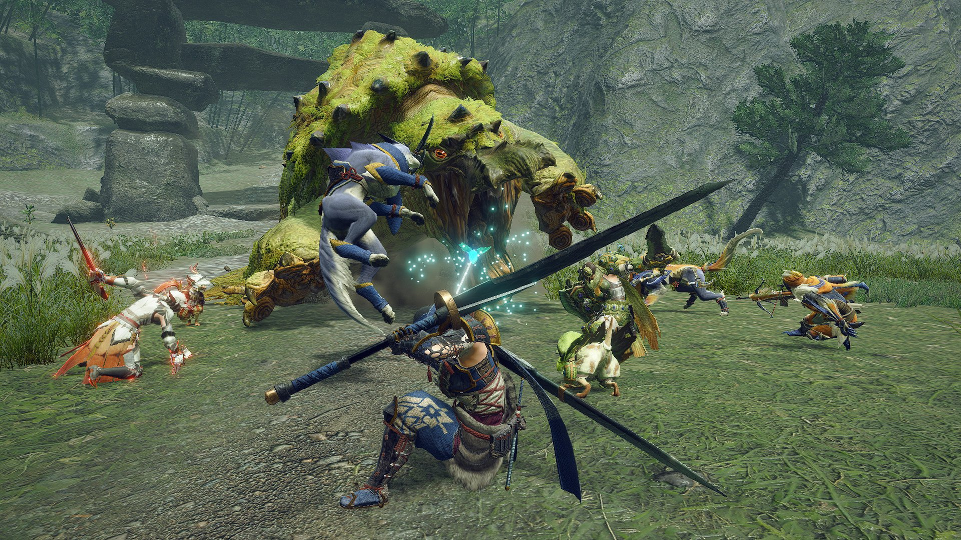 Monster Hunter Rise has separate solo and co-op quests, and cutscenes can be skipped screenshot