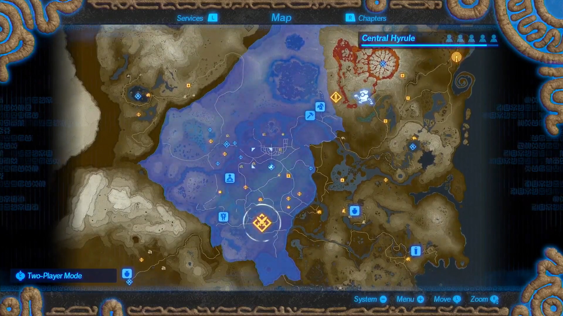 Hyrule Warriors: Age of Calamity map