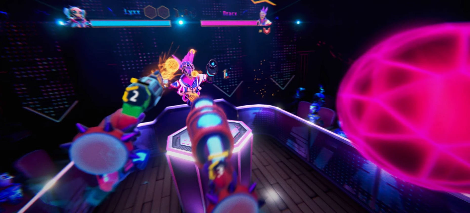 Blaston is a fun little VR dueling game that's basically a fighter with guns screenshot