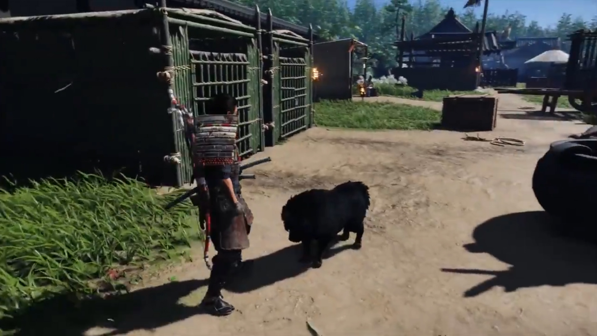 Ghost of Tsushima has a dog-befriending charm in New Game+ screenshot