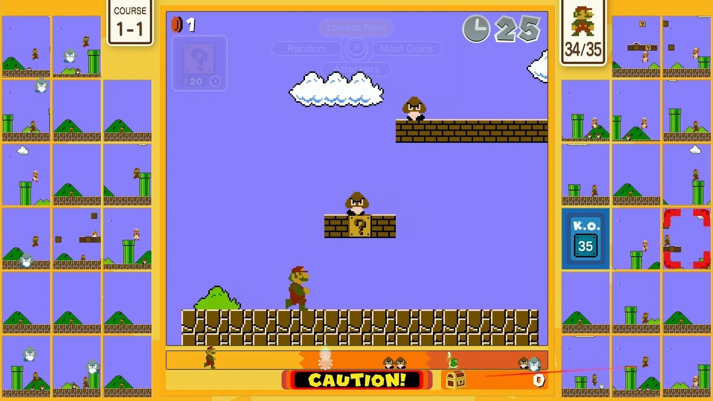 Super Mario Bros. 35 just got patched, mostly to fix several bugs screenshot