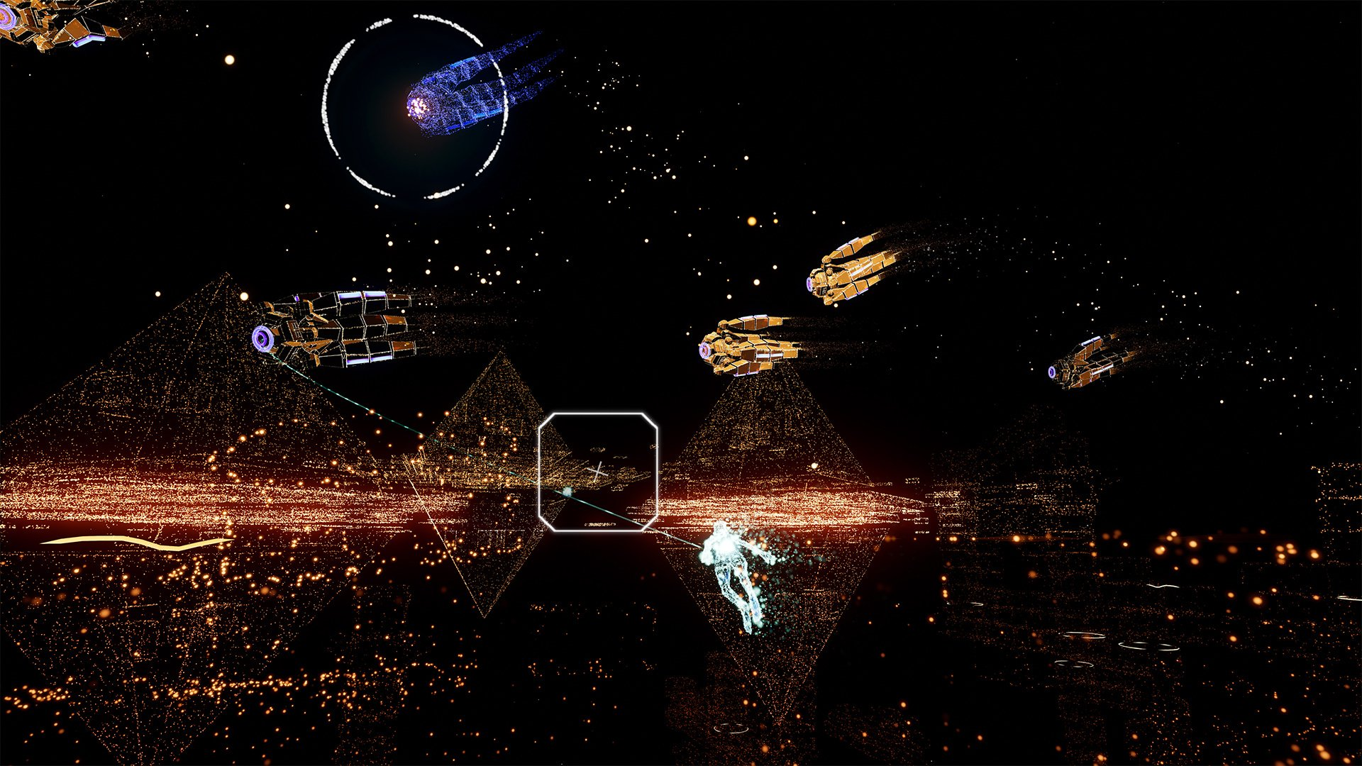 Rez Infinite is just as beautiful on the Oculus Quest screenshot