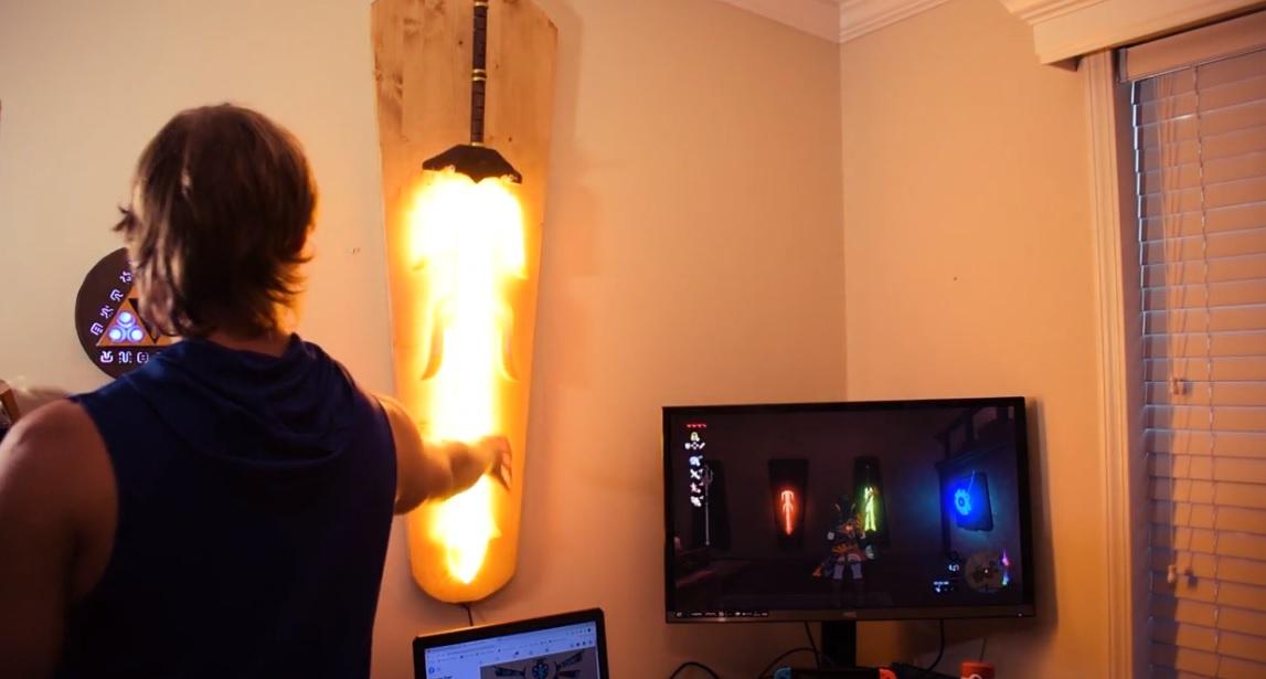 This Zelda: Breath of the Wild Great Flameblade replica is amazing screenshot