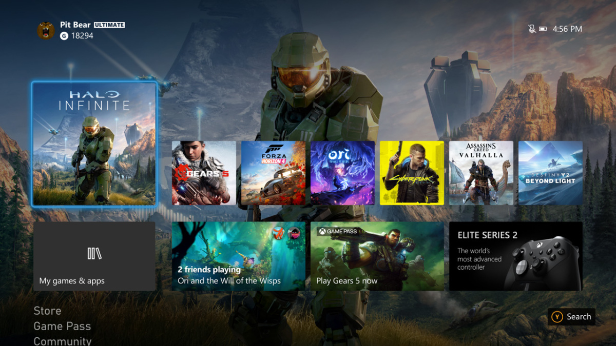 Preview the Xbox Series X dashboard on Xbox One today screenshot