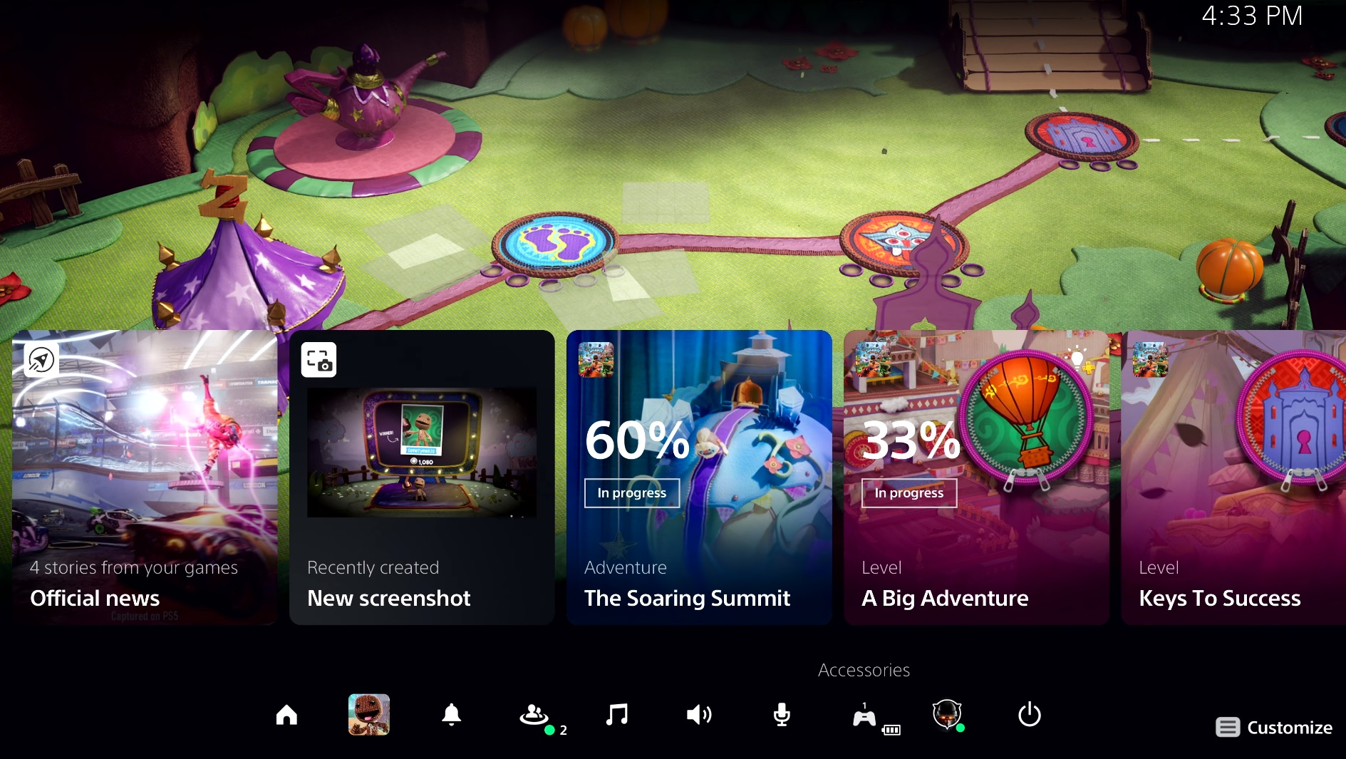 Here's our first look at the very different card-based PS5 UI screenshot