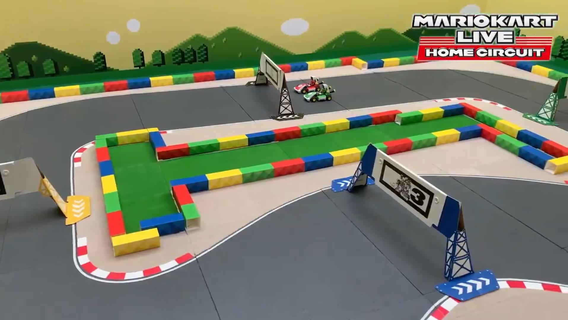 Here's some SNES Mario Kart inside Mario Kart Live: Home Circuit screenshot