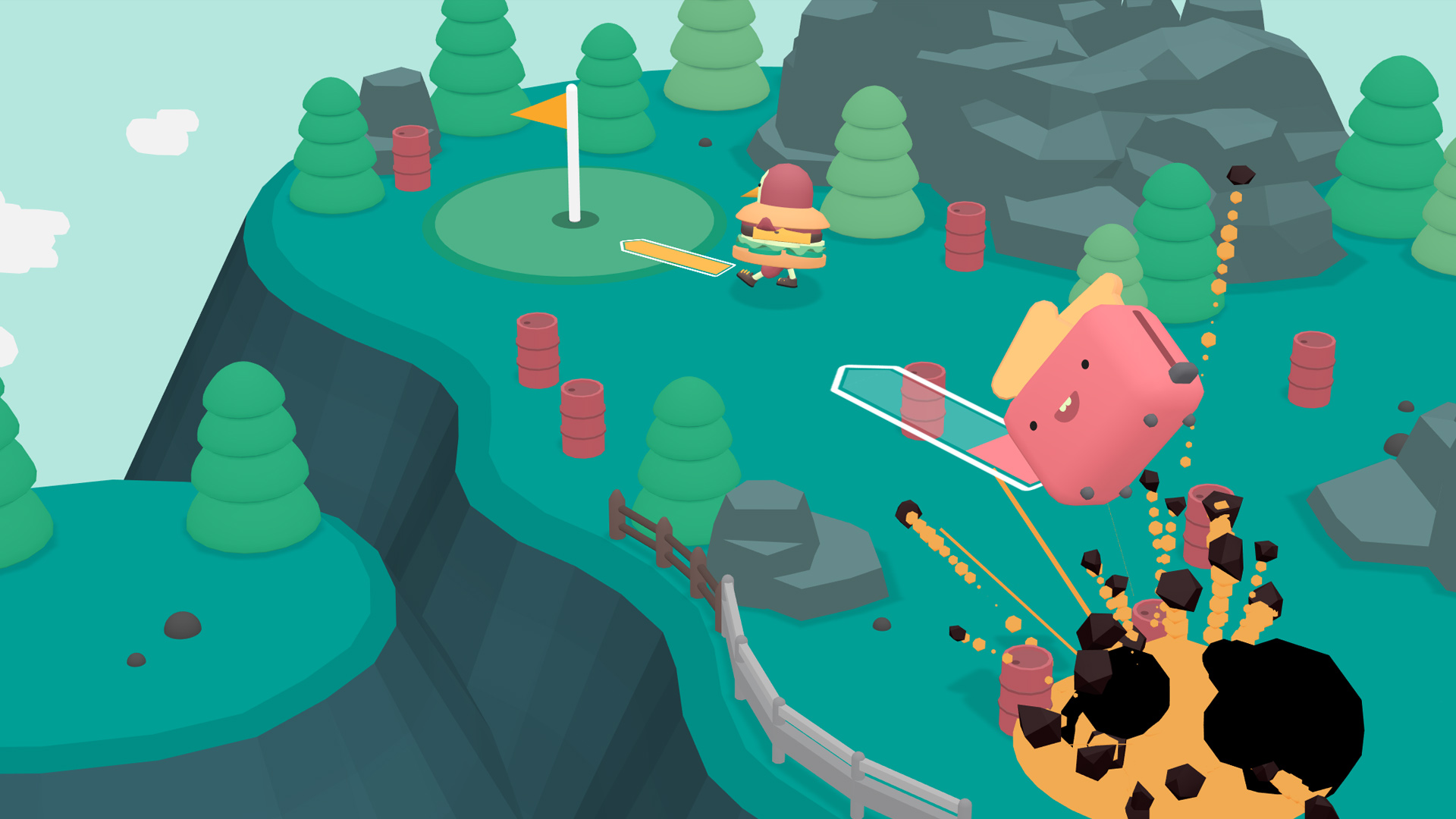 What the Golf? is out on Steam and it threw in a bonus level editor