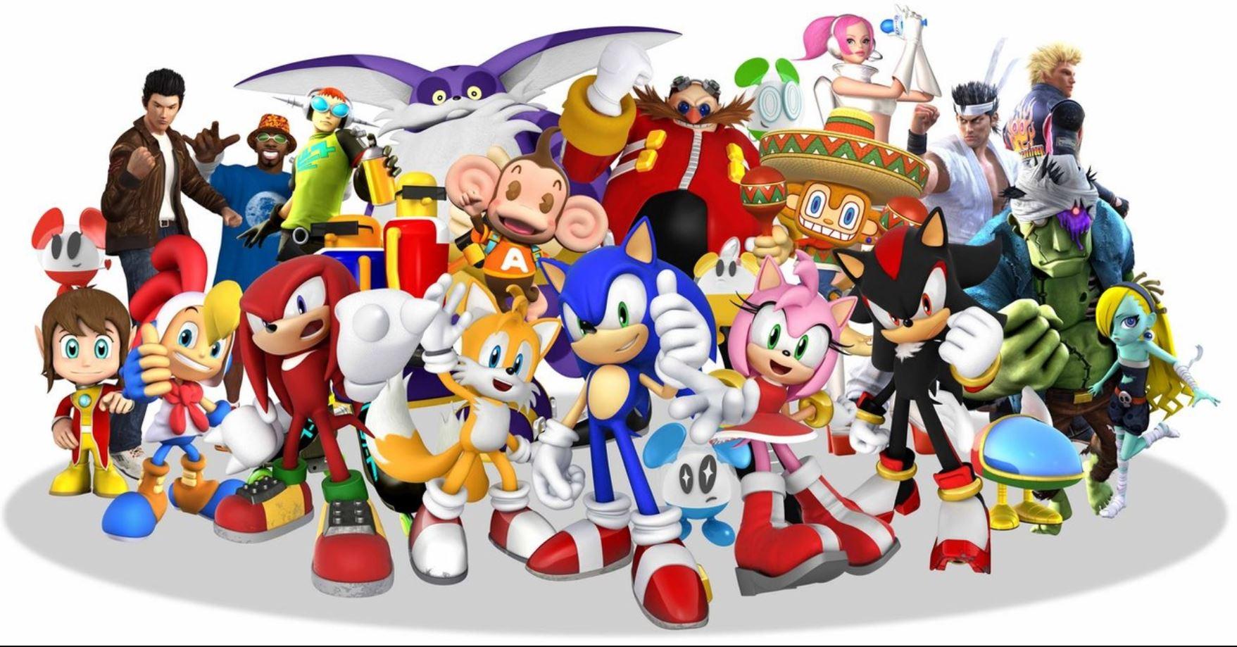 I want a Sonic & Sega All-Stars rhythm-action game screenshot