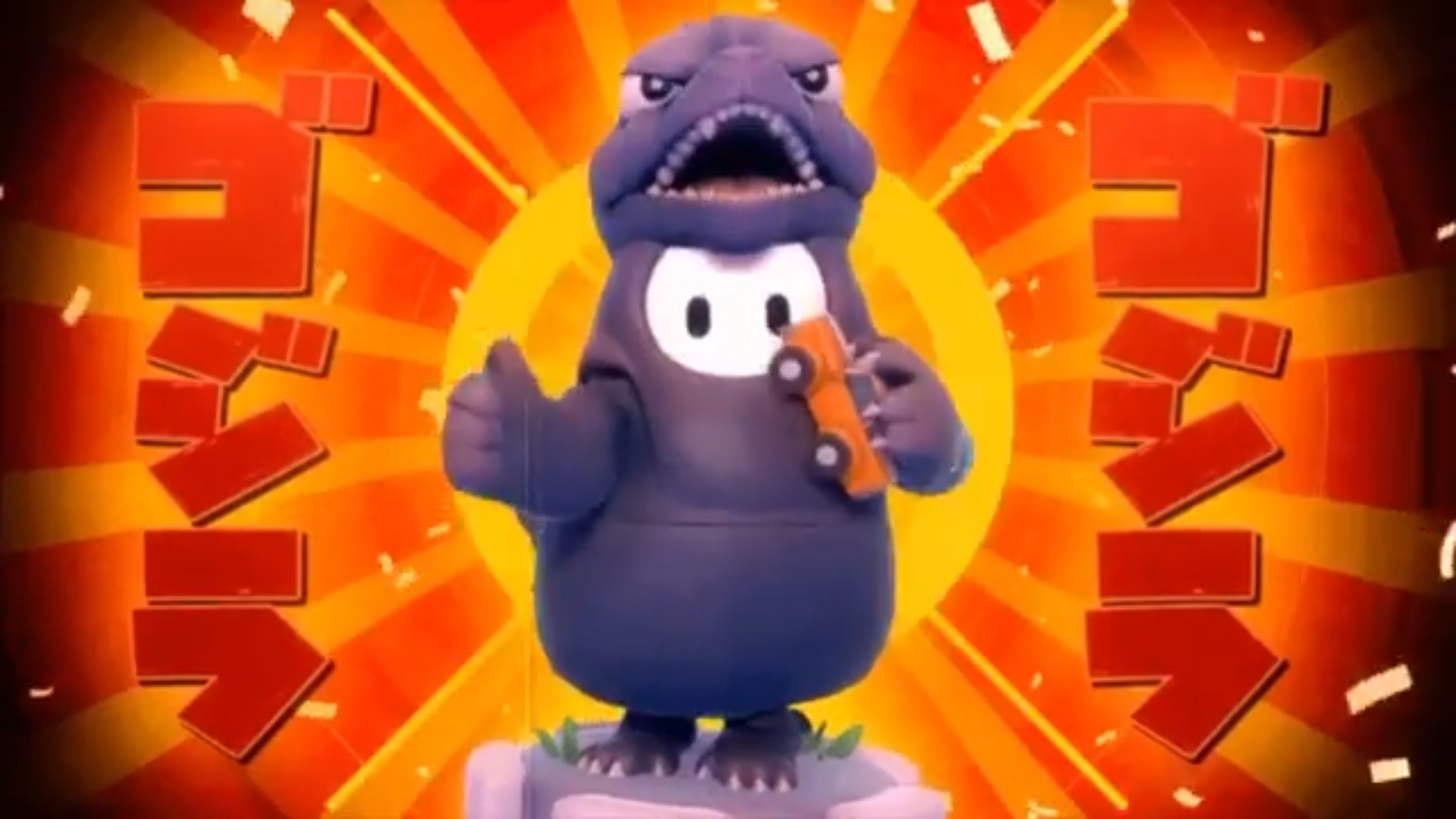 Hold onto your Fall Guys crowns for another week so you can get this sweet Godzilla costume