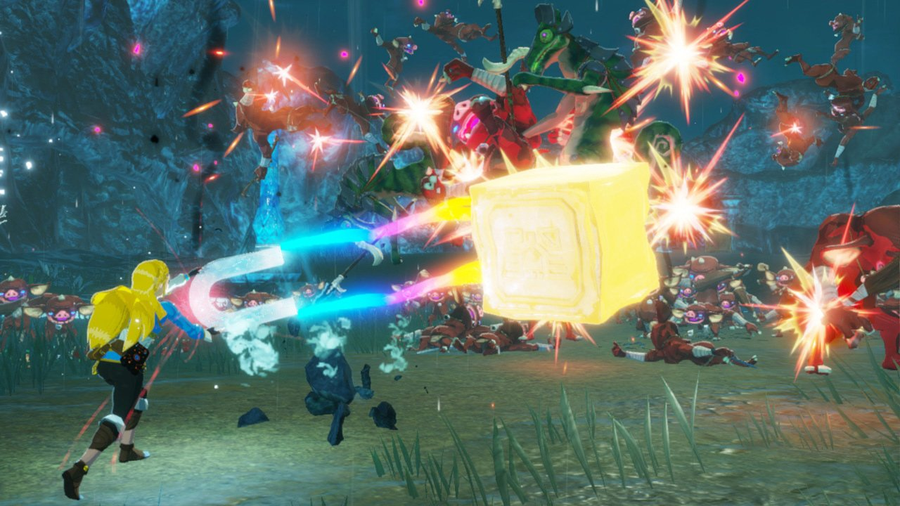Don't skip the (surprisingly big) Hyrule Warriors: Age of Calamity demo screenshot