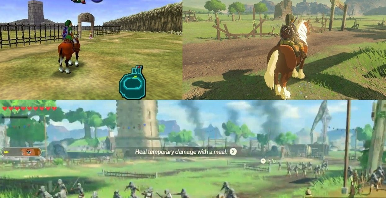 Several iconic Zelda locations seem to be in Age of Calamity