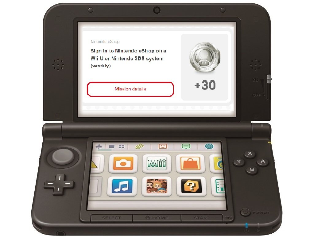 Don't forget to sign into the Wii U or 3DS eShop once a week for free My Nintendo Platinum Points screenshot