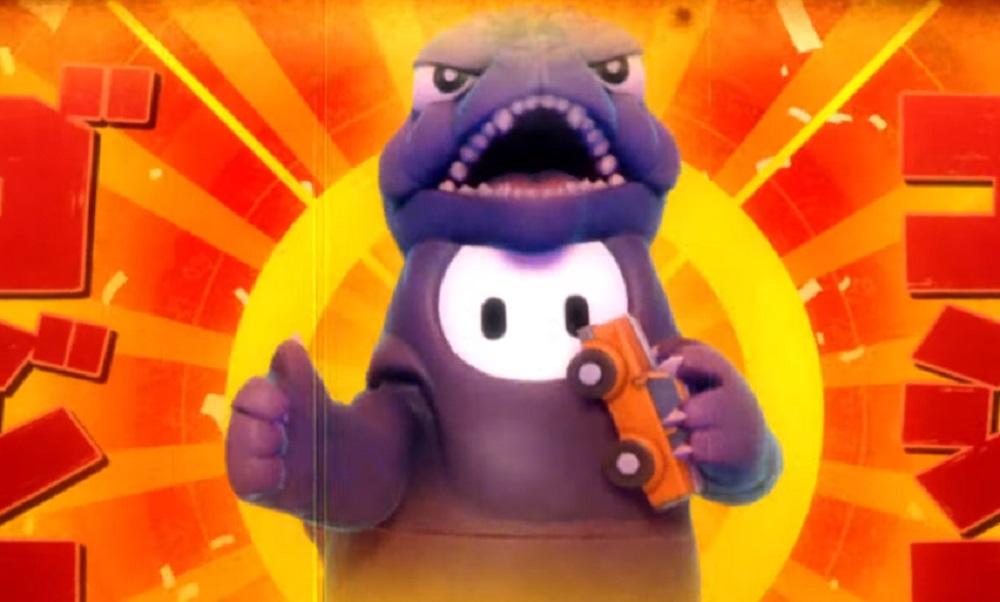 Godzilla will be doing the stomp in Fall Guys today screenshot